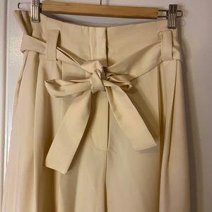 Paper bag waist pants NWT Mango size 8